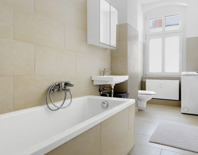Bathroom after the furnishing and renovation